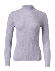 Grey Cashmere Ribbed Sweater