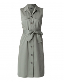 Sonny Moss Green Cotton Shirt Dress