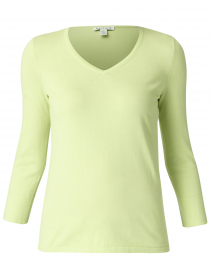 Apple Green Cotton Button Cuff Sweater