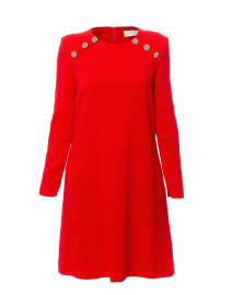Irma Red Wool Crepe Tunic Dress
