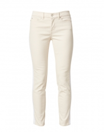 Kinney Beige with White Side Stripe Stretch Cotton Pant