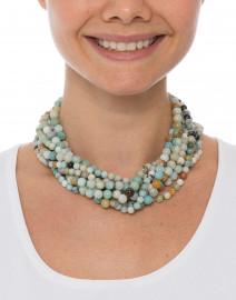 Kenneth Jay Lane - Amazonite Multi-Strand Necklace