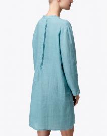 Pomegranate - Teal Pintuck Linen Dress
