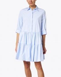 Fabiana Filippi - Blue and White Striped Cotton Poplin Shirt Dress