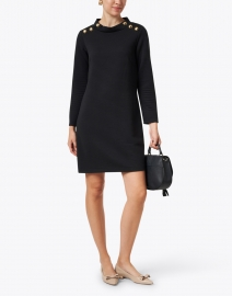 Sail to Sable - Black Textured Knit Dress