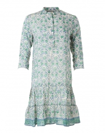 Popover Green and Blue Shirt Dress