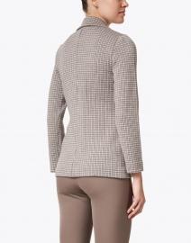 Amina Rubinacci - Desiderio Beige Check Wool Knit Blazer