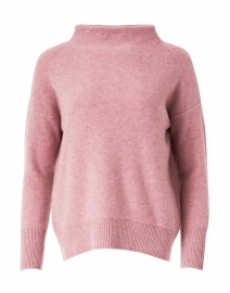 Pink Wool and Cashmere Funnel Neck Sweater