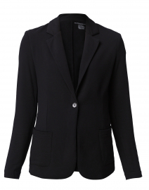 Black Stretch French Terry Blazer
