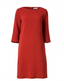 Ginger Red Wool Crepe Dress
