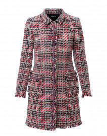 Navy and Red Tweed Cotton Coat