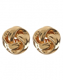 Gold Knot Stud Clip-On Earring