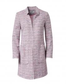 Pink Lurex Tweed Long Jacket
