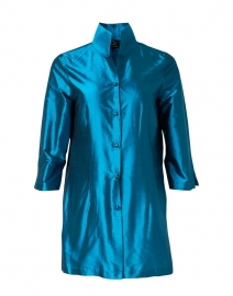 Rita Teal Silk Jacket
