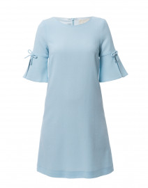 Irinna Pale Blue Wool Crepe Tunic Dress