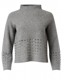 Heather Grey Felted Wool Cashmere Sweater