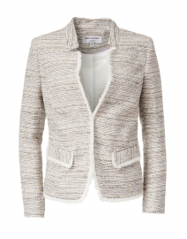 Lilac Tweed Notched Jacket