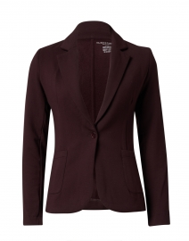 Aubergine Stretch French Terry Blazer