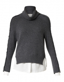 Jolie Grey Wool Cashmere Layered Turtleneck
