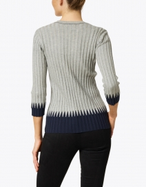 Peace of Cloth - Grey and Navy Ribbed Cotton Top