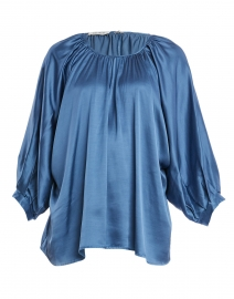 Gaby French Blue Viscose Elastane Blouse