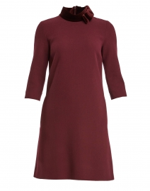 Kensington Plum Wool Crepe Tunic Dress