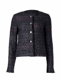 Black Multi Lurex Tweed Jacket
