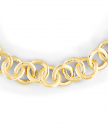 Nest - Brushed Gold Circle Chain Link Necklace