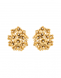 Gold Floral Cluster Stud Earring