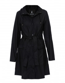 Black Curve Waterproof Raincoat