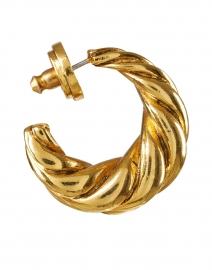 Oscar de la Renta - Gold Twist Hoop Earring