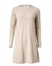 Beige Cashmere Knit Dress