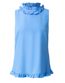 Marine Blue Poly Crepe Blouse