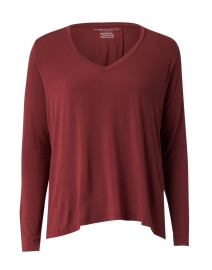 Cabernet Red Soft Touch Pleated Top