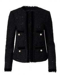 Sparkle Black Tweed Lurex Jacket