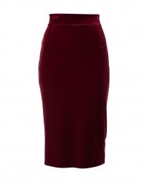 Lumi Beetroot Velvet Skirt