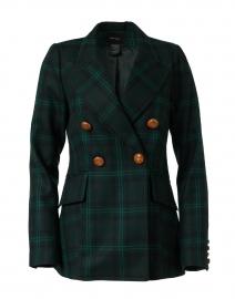 Hunter Green Plaid Wool Blazer