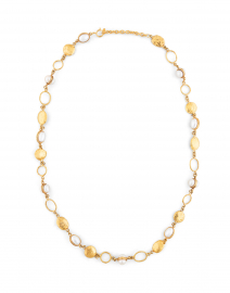 Lee Gold and Pearl Chain Necklace