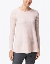 Cortland Park - St. Tropez Pale Pink Cable Knit Cashmere Sweater