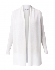 Pearl White Essential Cashmere Cardigan