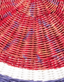 SERPUI - Fig Red, White, and Blue Wicker Clutch
