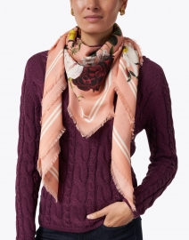 St. Piece - Maria Pink Floral Printed Wool and Cashmere Scarf