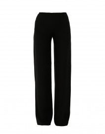 Black Wide Leg Silk Cady Pant
