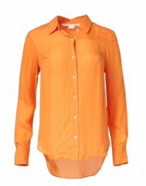 Morgane Tangerine Orange Silk Shirt