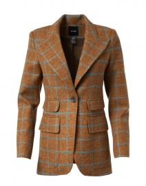 Toffee and Blue Windowpane Birkin Blazer