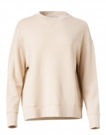 Pale Beige Cotton French Terry Pullover