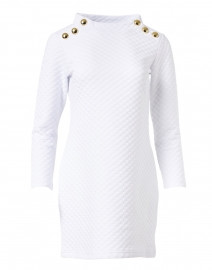 White Bubble Knit Dress