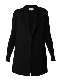 Black Wool Cashmere Coat