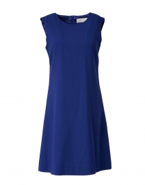 Lois Marine Blue Wool Crepe Dress