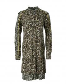 Seafoam, Yellow and Black Animal Printed Dress